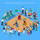 Ballroom Dancing Competition Isometric Composition - GraphicRiver Item for Sale