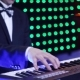 The Keyboard Player Plays the Synthesizer in the Club - VideoHive Item for Sale