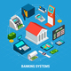 Banking Systems Round Composition - GraphicRiver Item for Sale
