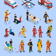 Rescue Teams Isometric Set - GraphicRiver Item for Sale