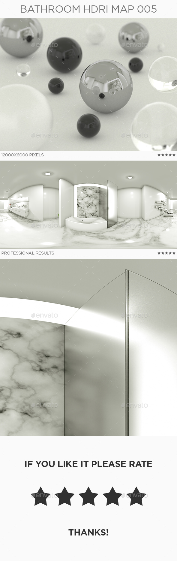 Bathroom HDRi Map 005 - 3DOcean Item for Sale