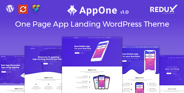 AppOne - App Landing WordPress Theme - Technology WordPress