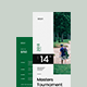 Golf Tournament Rack Card Template