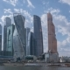 Moscow City Business Center and Blue Sky at Sunny Day. Russia - VideoHive Item for Sale