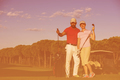 portrait of couple on golf course - PhotoDune Item for Sale