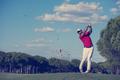 golf player hitting long shot - PhotoDune Item for Sale