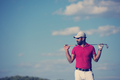 handsome middle eastern golf player portrait at course - PhotoDune Item for Sale