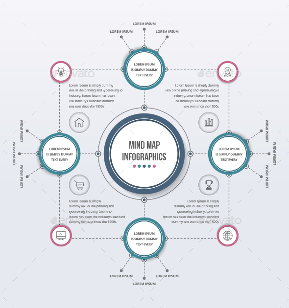 mind map template by design sky graphicriver
