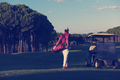 golfer  walking and carrying golf  bag - PhotoDune Item for Sale