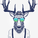 Hipster Deer Characters - GraphicRiver Item for Sale