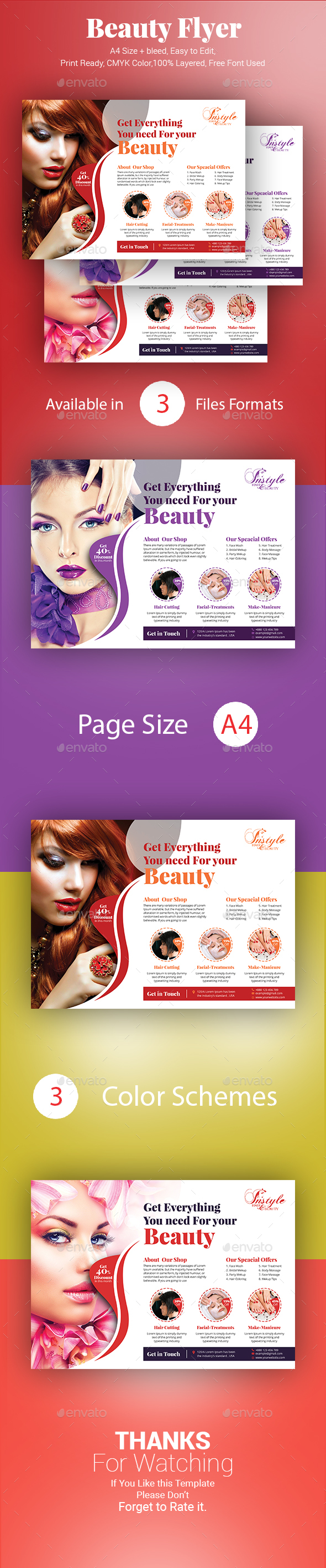 Beauty Flyer - Corporate Flyers