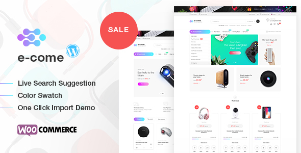 Image of Ecome -  Electronics Store WooCommerce Theme