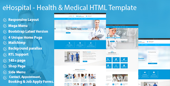 eHospital - Health & Medical  HTML Template