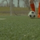 Football Player Kicking Soccer Ball on the Field - VideoHive Item for Sale