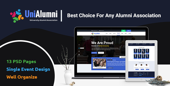 UniAlumni – University Alumni PSD Template