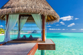 Overwater spa in the tropical blue lagoon of Maldives - PhotoDune Item for Sale