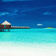 Over water bungalows with steps into lagoon, Maldives - PhotoDune Item for Sale