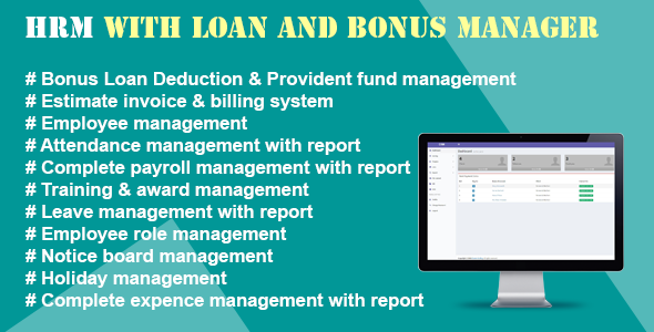 HRM With Loan And Bonus Manager - CodeCanyon Item for Sale