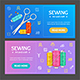 Sewing Banner Horizontal Set - GraphicRiver Item for Sale
