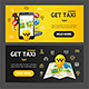 Get Taxi Service Banner Set - GraphicRiver Item for Sale
