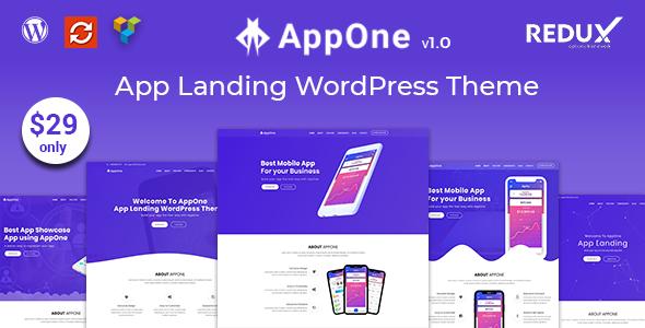 Image of AppOne - App Landing WordPress Theme