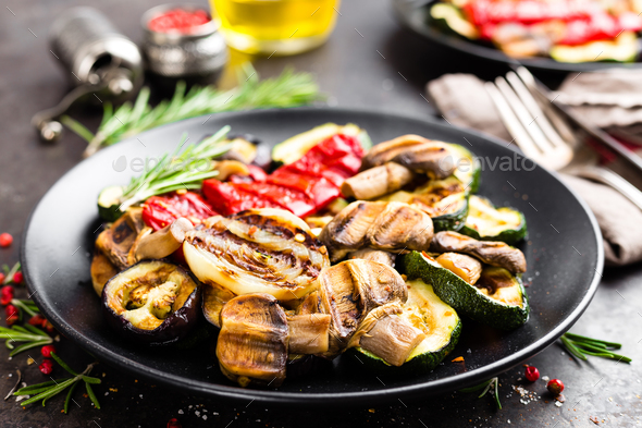 Grilled vegetable salad - Stock Photo - Images