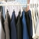 Different Male Business Clothes, Including Suits and Shirts on a Hanger - VideoHive Item for Sale