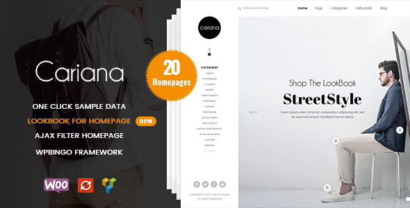 Cariana – WooCommerce Lookbook Fashion Theme