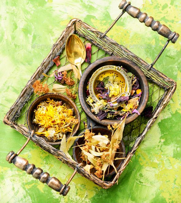 Herbal tea leaves - Stock Photo - Images