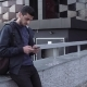 Young Handsome Arabic Man Using Smartphone in City - VideoHive Item for Sale