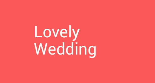 Lovely Wedding