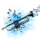 Background with Trumpet - GraphicRiver Item for Sale