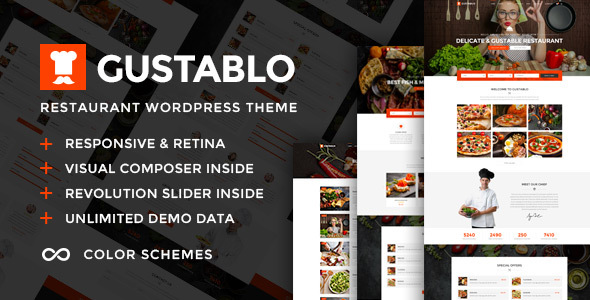 Image of Gustablo | Restaurant & Cafe Responsive WordPress Theme