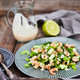 Shrimps, cucumber and lettuce salad with yogurt dressing - PhotoDune Item for Sale
