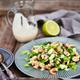 Shrimps, cucumber and lettuce salad with yogurt dressing - PhotoDune Item for Sale