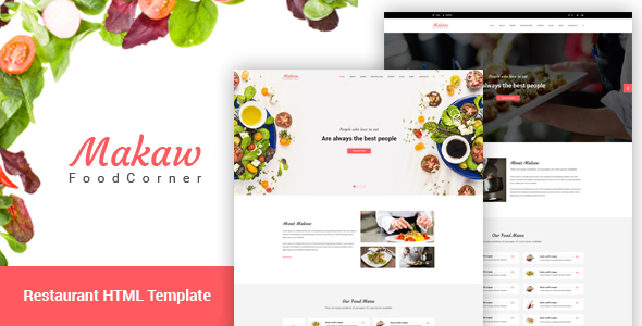 Makaw - Restaurant Bootstrap4 Template - Food Retail