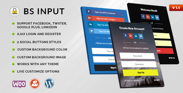 BS Input - Social Login and Register Popup With Shortcode - CodeCanyon Item for Sale
