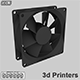 Fan PC with STL 3d printer