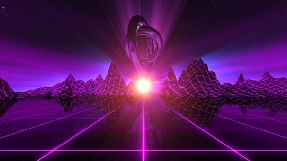 VJ Retro Futuristic Horizon By Emotionica