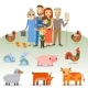 Farmers Family with Domestic Animals - GraphicRiver Item for Sale