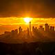 City of Toronto Skyline Sunset time lapse 4k - VideoHive Item for Sale