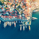 Aerial view of boats, yahts, ship and architecture - PhotoDune Item for Sale