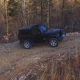 Aerial of Jeep Parked in Wilderness - VideoHive Item for Sale
