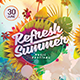 Refresh Summer Flyer Template - GraphicRiver Item for Sale