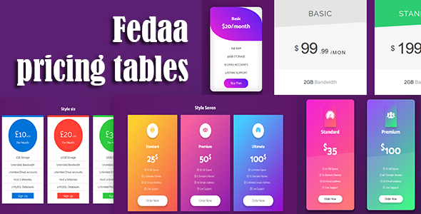 FedaaPricingTables - CodeCanyon Item for Sale