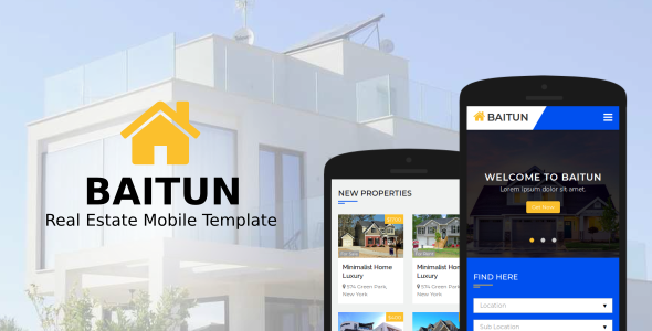 Baitun – Real Estate Mobile Template