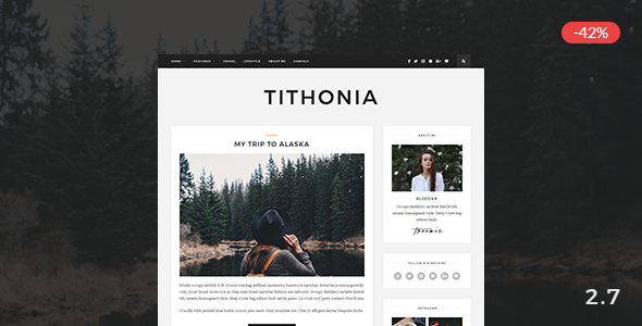 Tithonia - WordPress Blog Theme - Personal Blog / Magazine