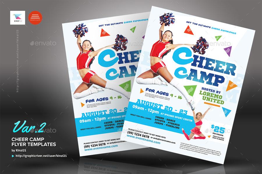cheerleading flyer template