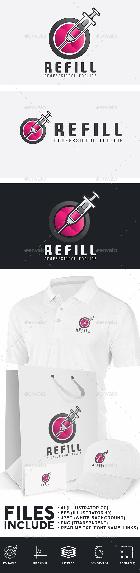 Refill Injection Logo - Objects Logo Templates