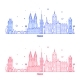 Prague Skyline Czech Republic City Building Vector - GraphicRiver Item for Sale